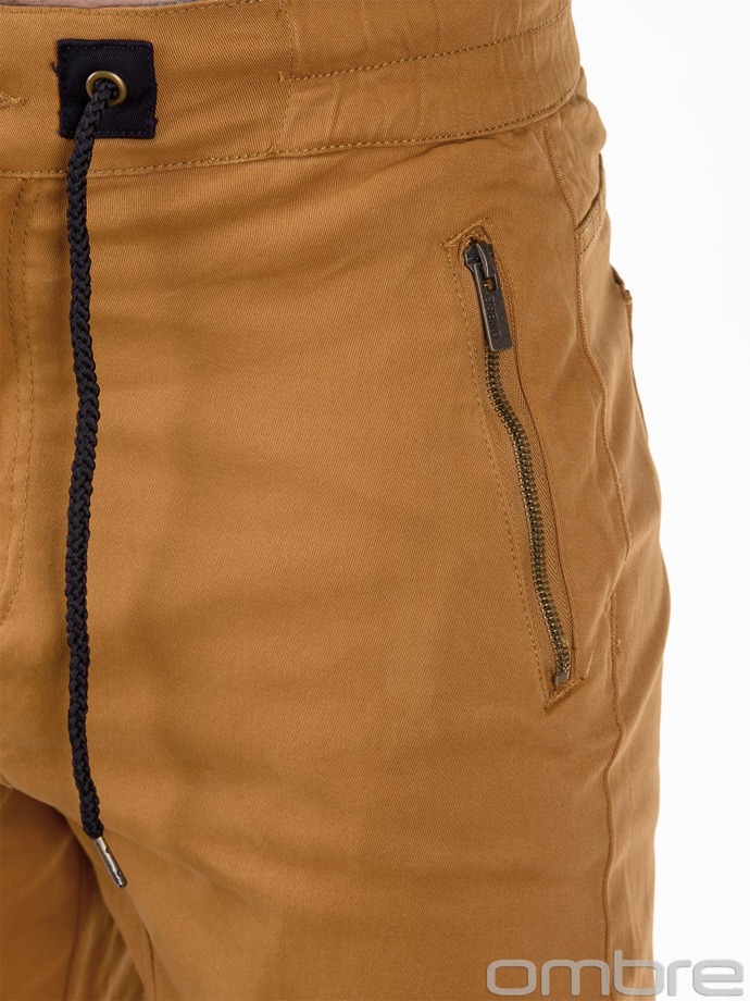 Men's jogger pants P417 - camel