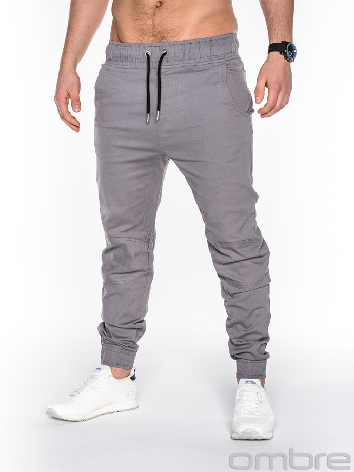 Men's jogger pants P435 - grey