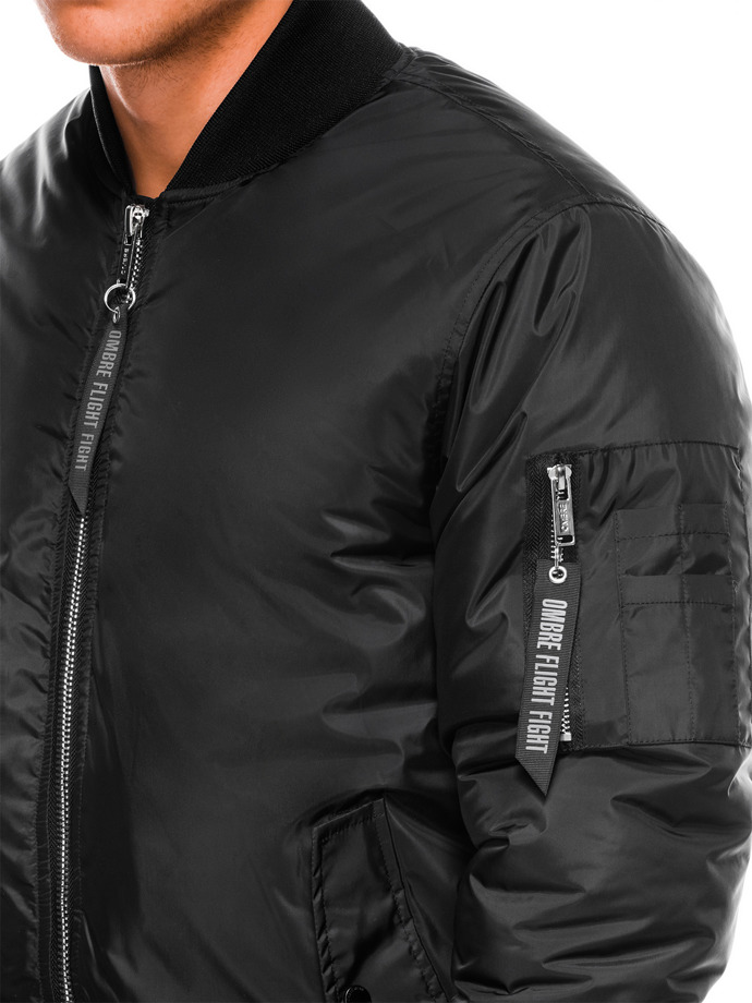 Men's mid-season bomber jacket C330 - black