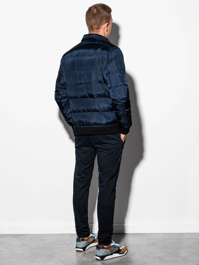Men's mid-season jacket C373 - navy
