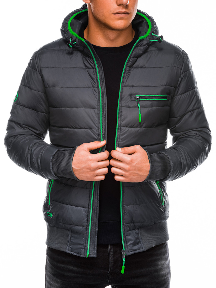 Men's mid-season quilted jacket C353 - grey