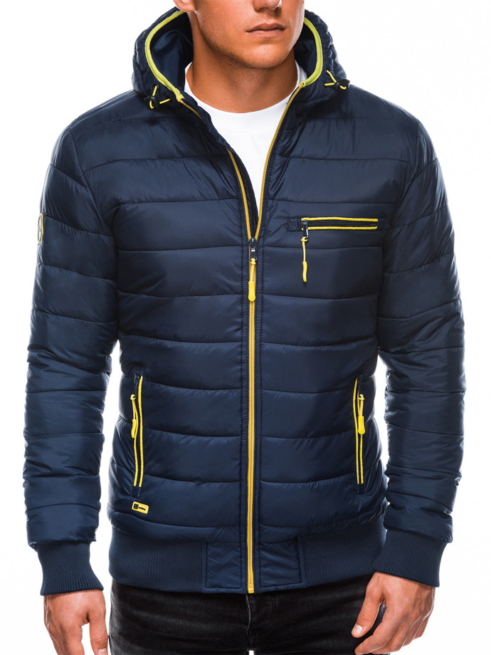 Men's mid-season quilted jacket C353 - navy