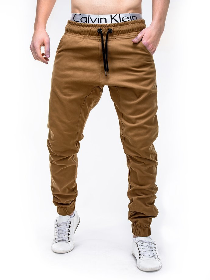 Men's pants joggers P205 - camel