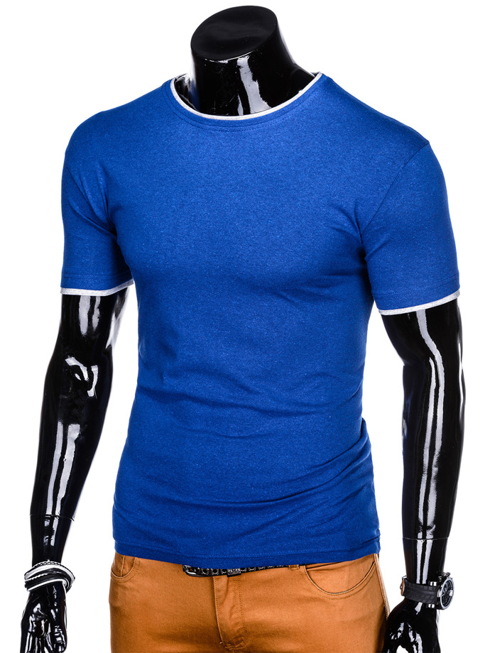 Men's plain t-shirt S1033 - blue