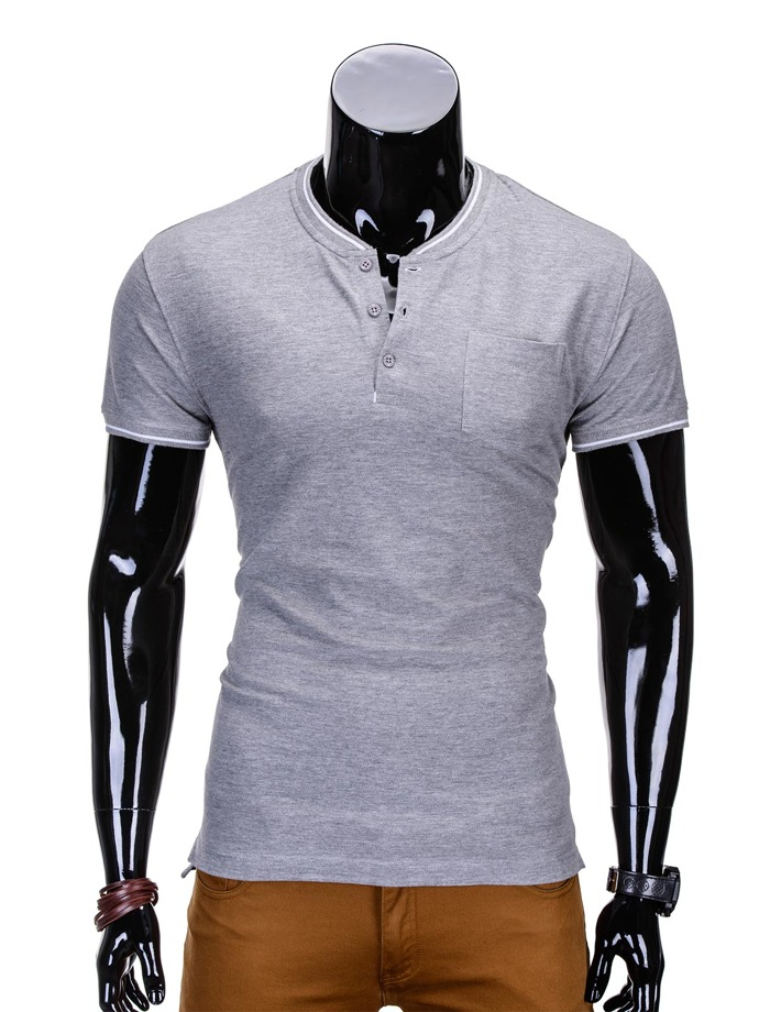 Men's plain t-shirt S667 - grey