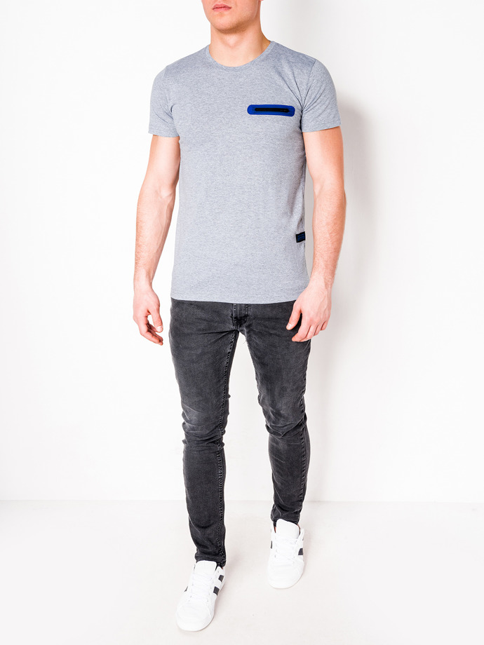 Men's plain t-shirt S824 - grey