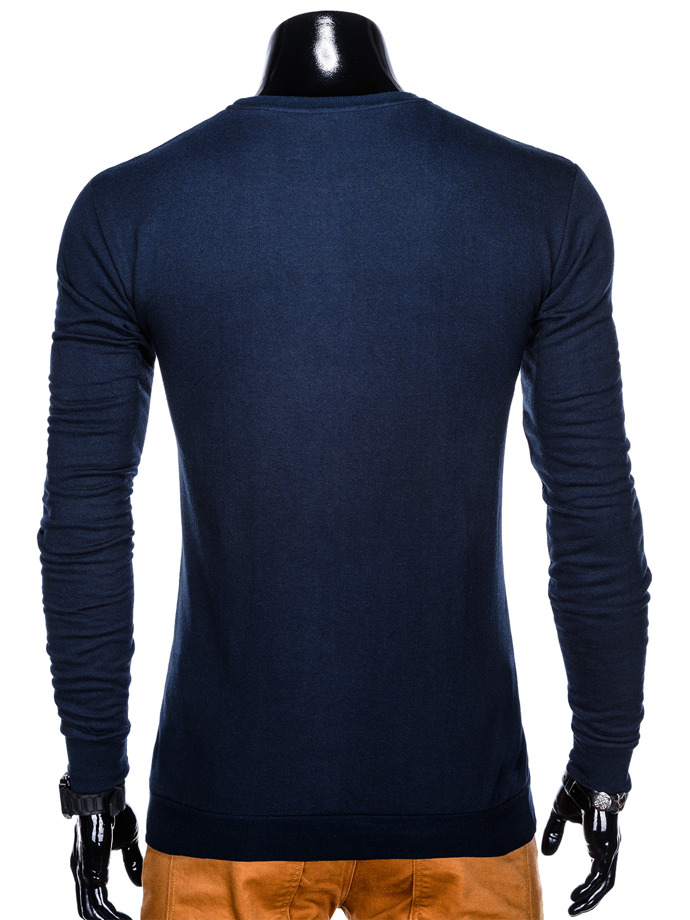 Men's printed sweatshirt B915 - navy
