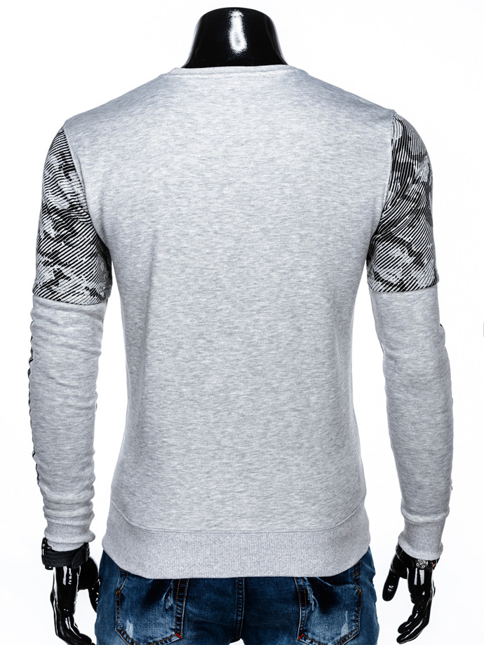 Men's printed sweatshirt B947 - grey