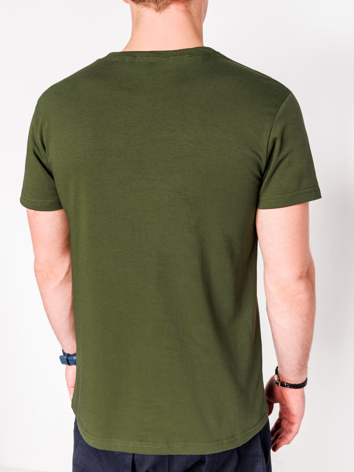 Men's printed t-shirt S1081 - khaki