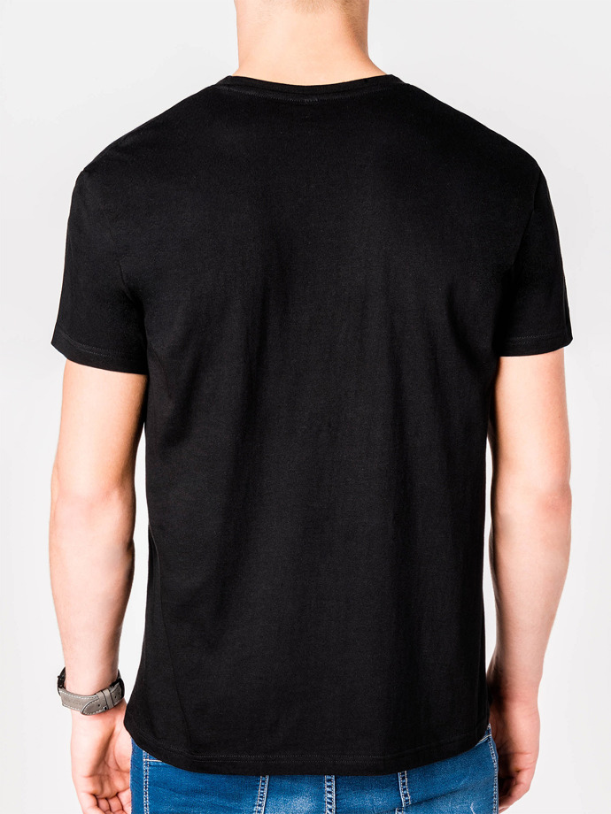 Men's printed t-shirt S613 - black