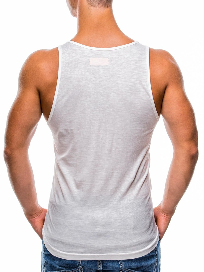 Men's printed tank top S806 - ecru