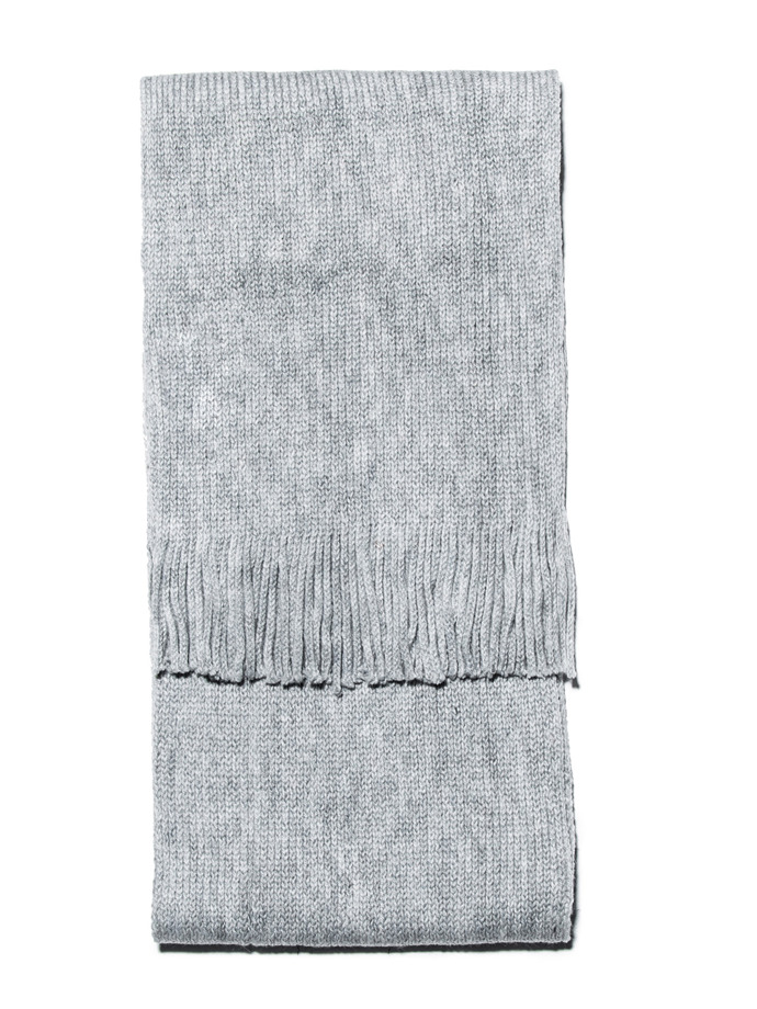 Men's scarf A101 - light grey