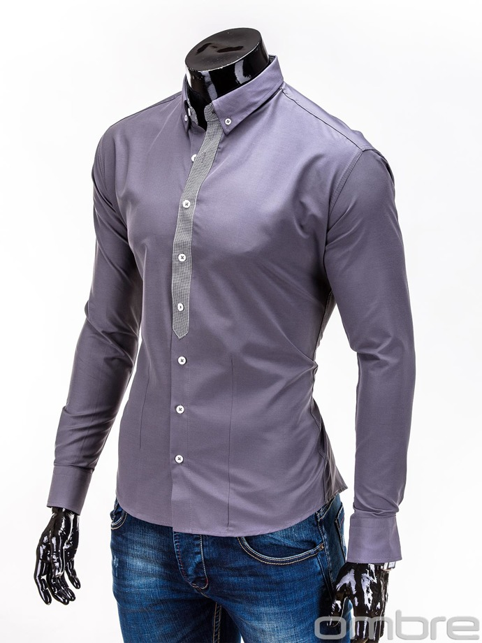 Men's shirt K101 - dark grey