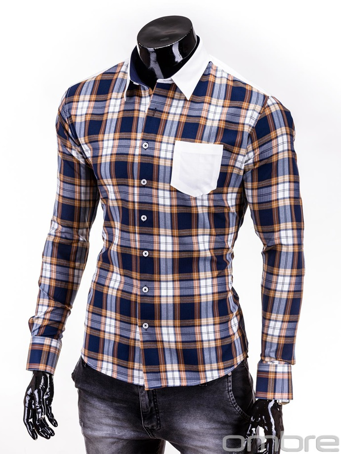 Men's shirt K174 - brown