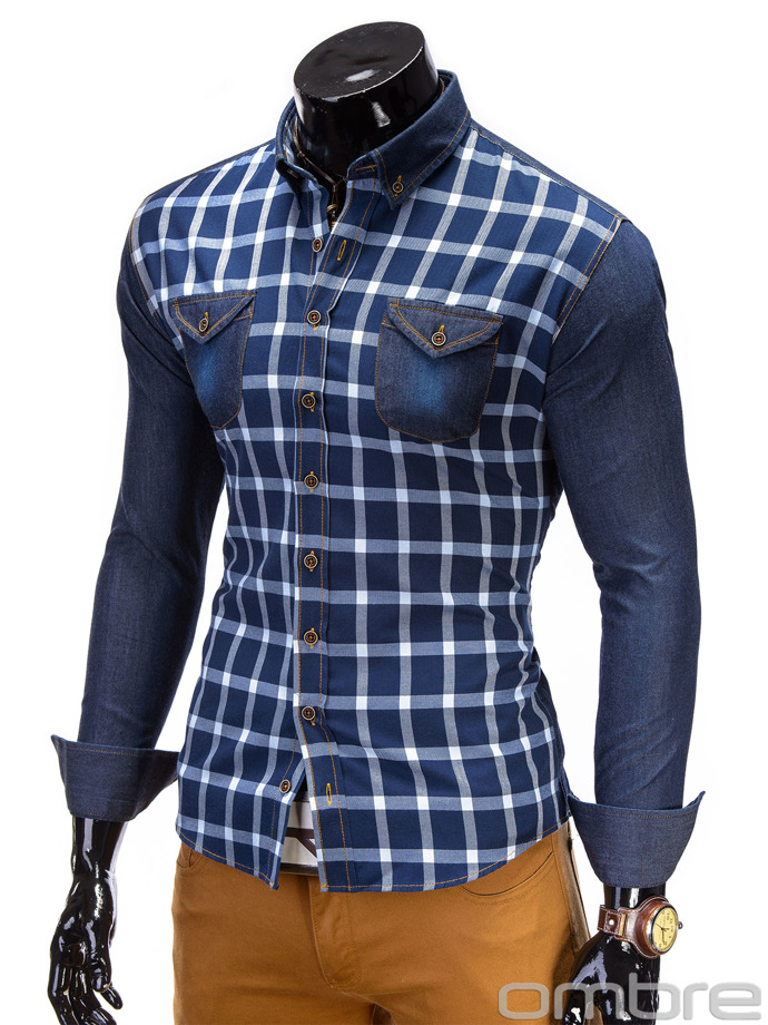 Men's shirt K195 - navy