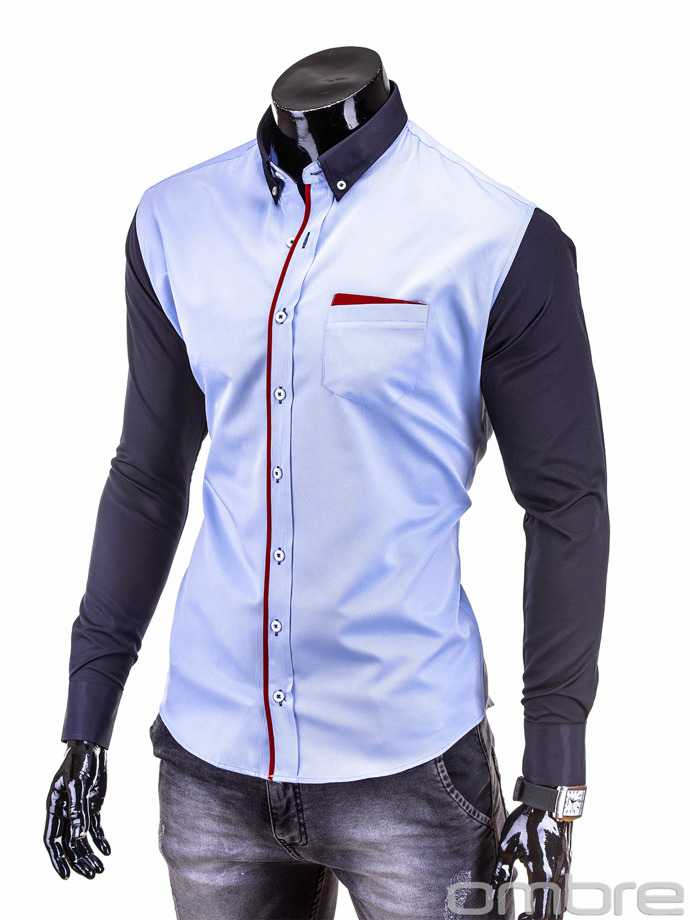 Men's shirt K206 - light blue