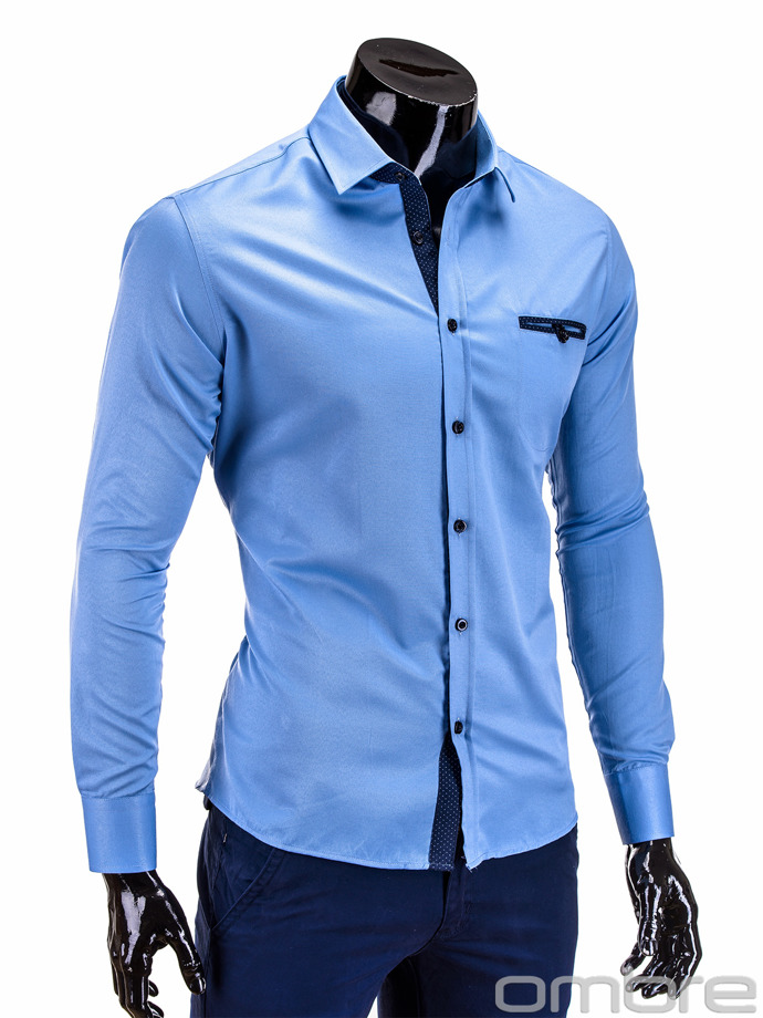 Men's shirt K213 - blue