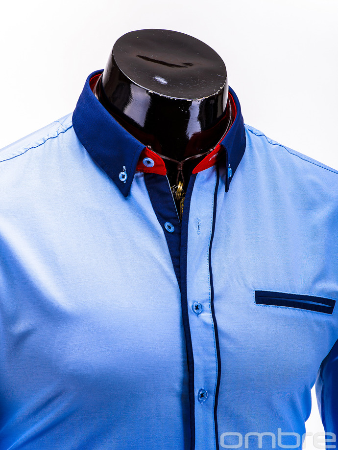 Men's shirt K215 - light blue