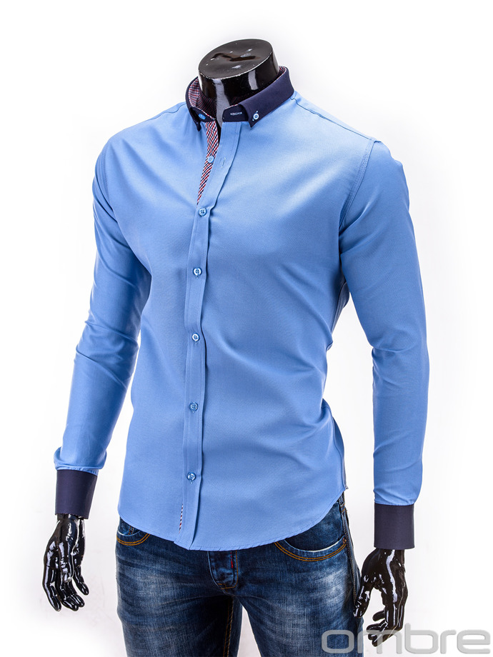 Men's shirt K258 - light blue