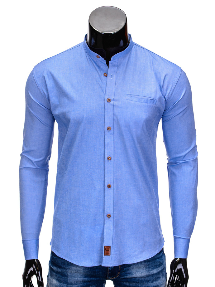 Men's shirt with long sleeves K353 - blue