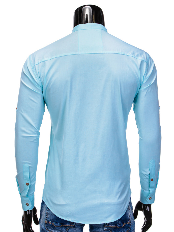 Men's shirt with long sleeves K353 - mint