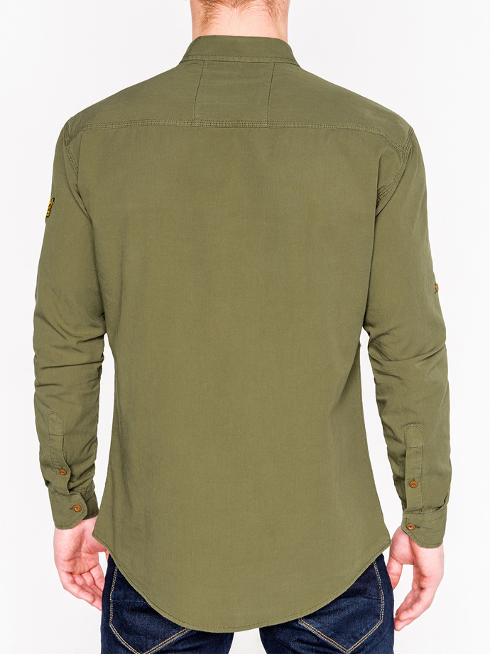 Men's shirt with long sleeves K361 - khaki