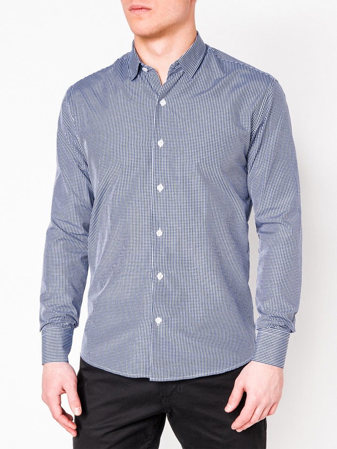 Men's shirt with long sleeves K435 - navy