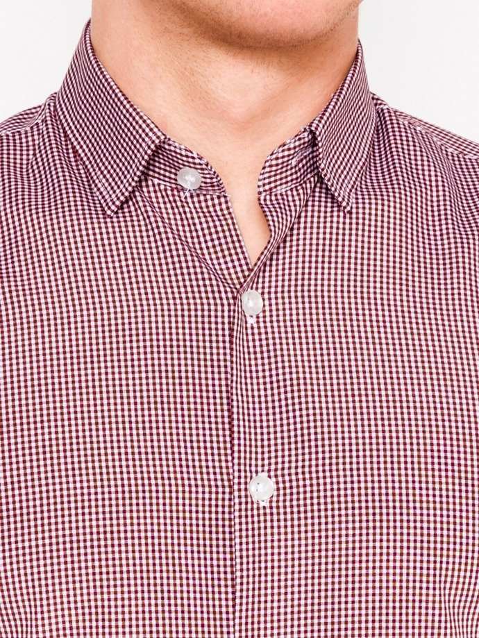 Men's shirt with long sleeves K435 - red