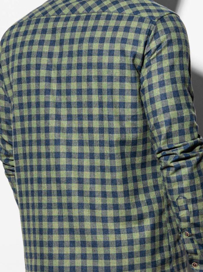 Men's shirt with long sleeves K509 - khaki