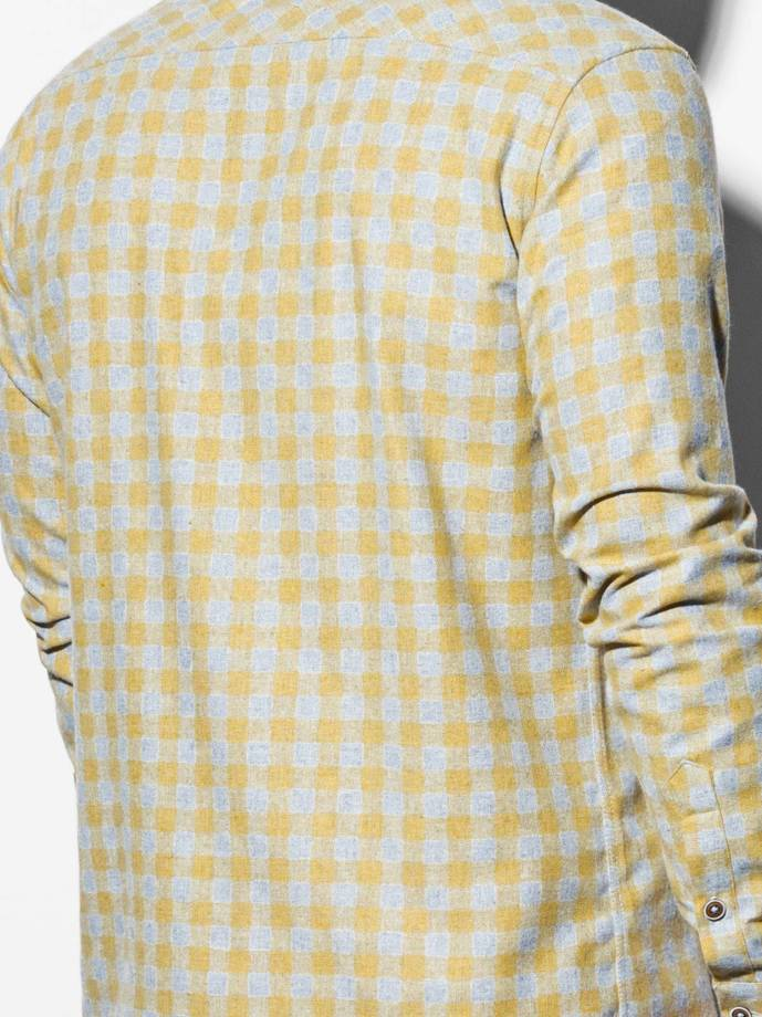 Men's shirt with long sleeves K509 - yellow
