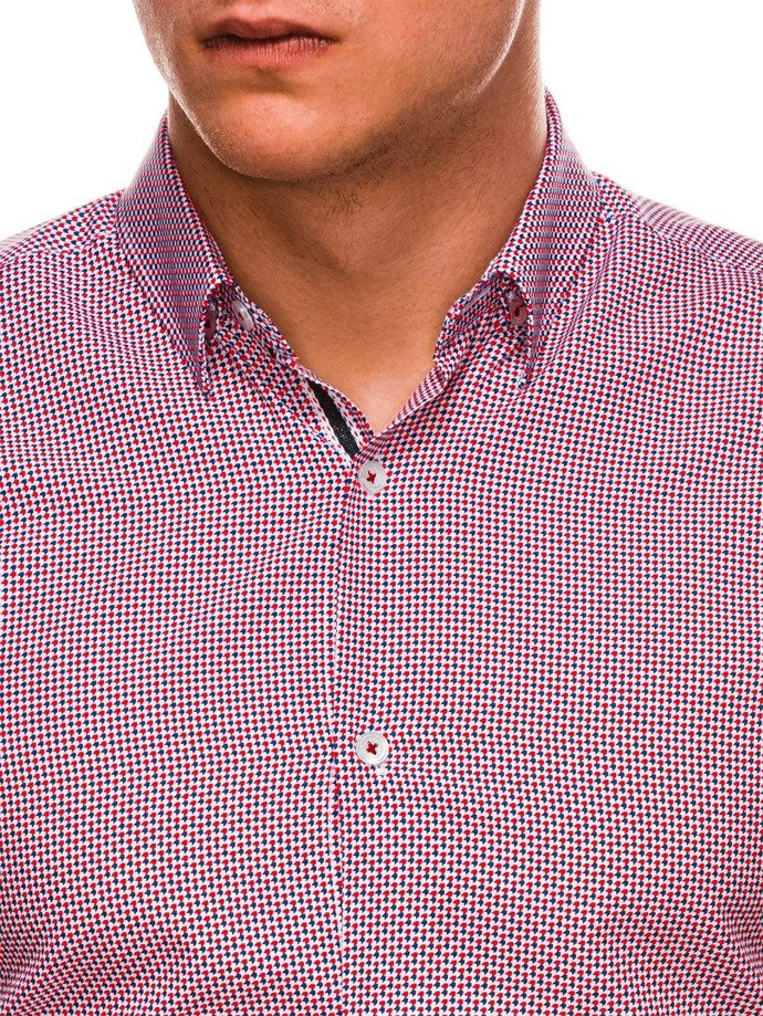Men's shirt with long sleeves K535 - red