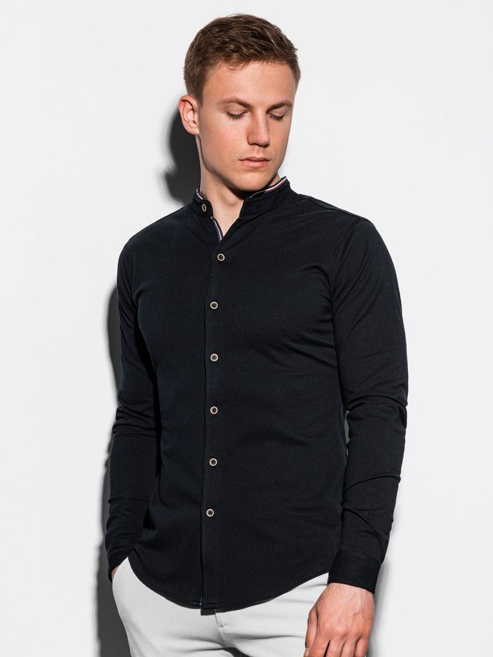 Men's shirt with long sleeves K542 - black
