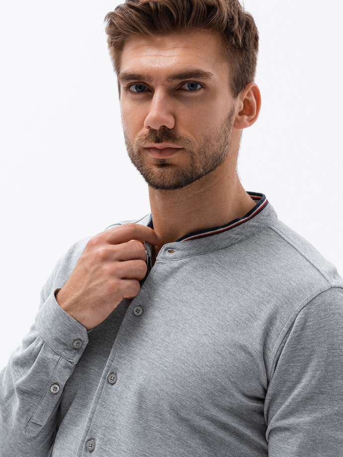 Men's shirt with long sleeves K542 - grey