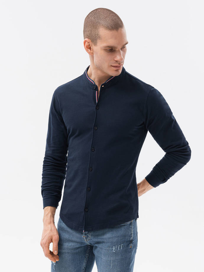 Men's shirt with long sleeves K542 - navy