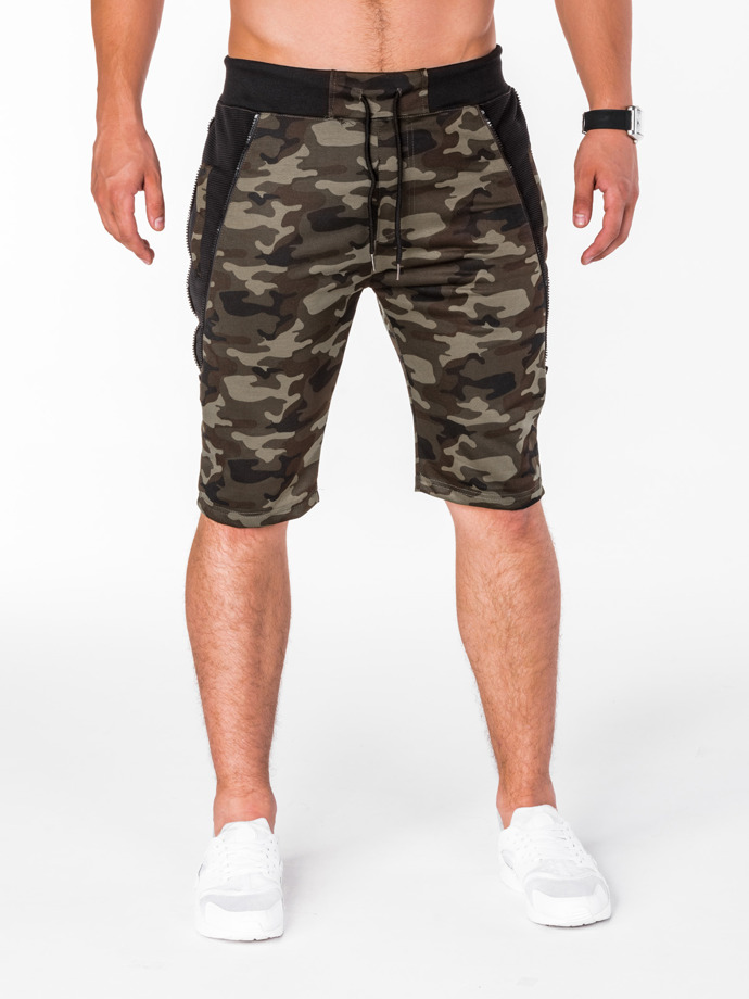 Men's shorts W076 - dark green