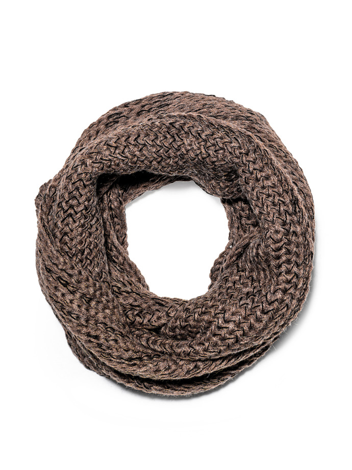 Men's snood A099 - brown/black