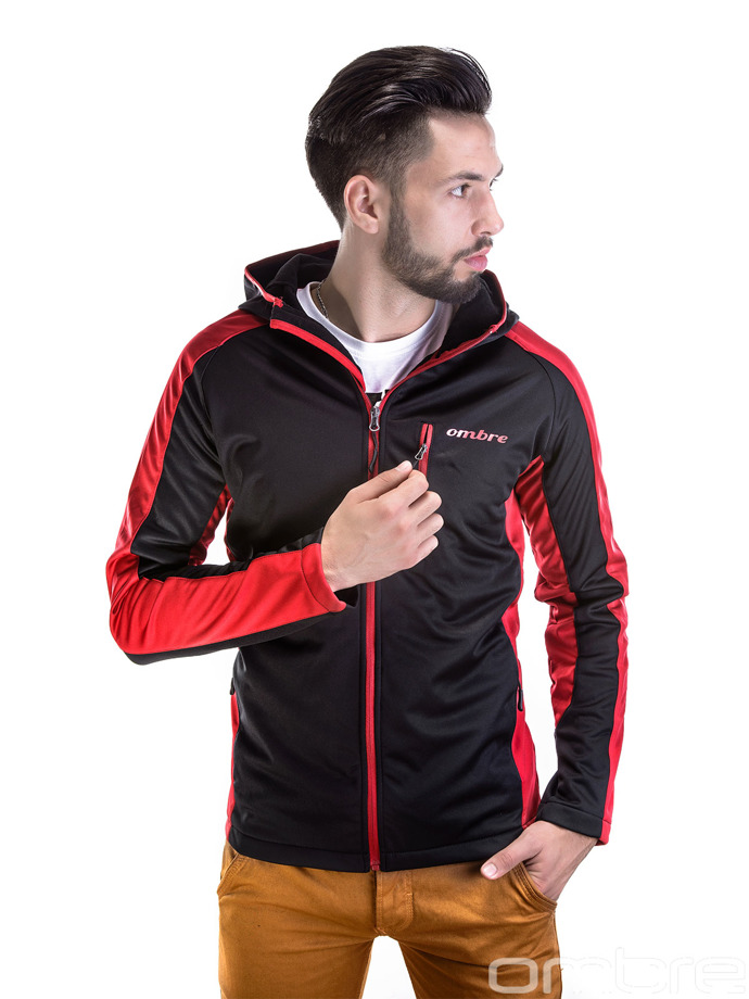 Men's softshell jacket C59 - black/red