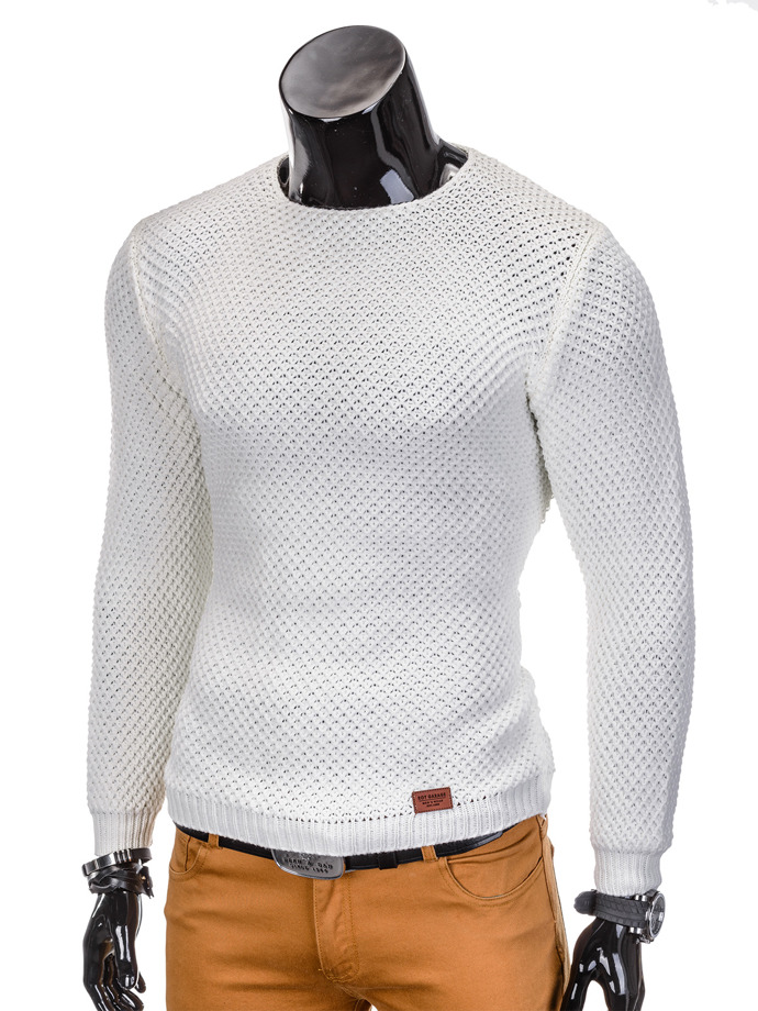 Men's sweater E100 - white