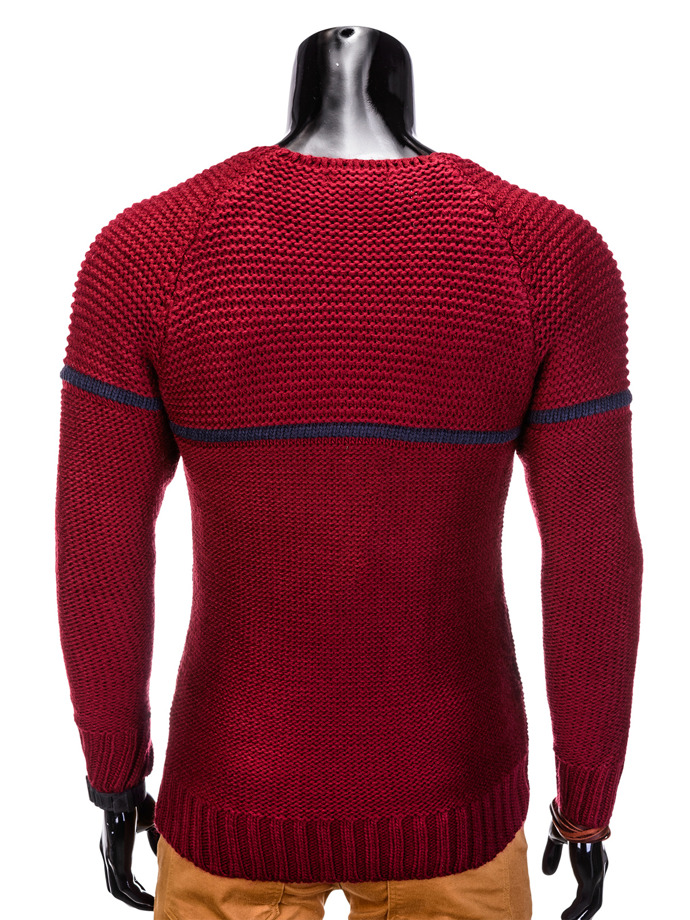 Men's sweater E102 - dark red