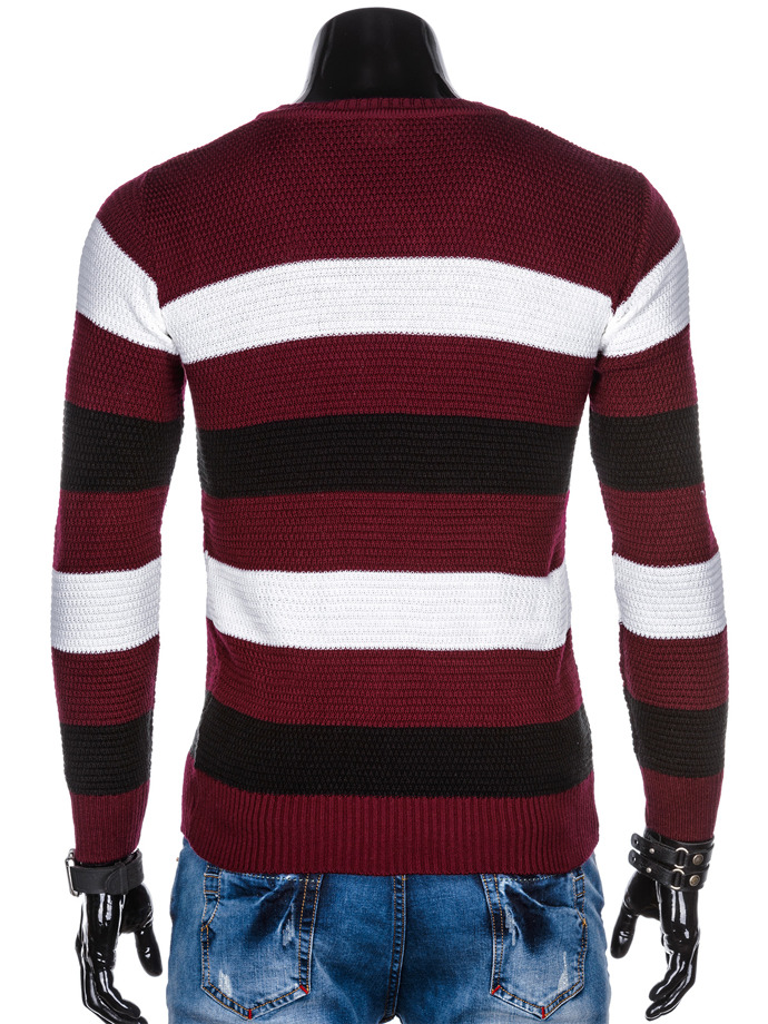 Men's sweater E144 - dark red
