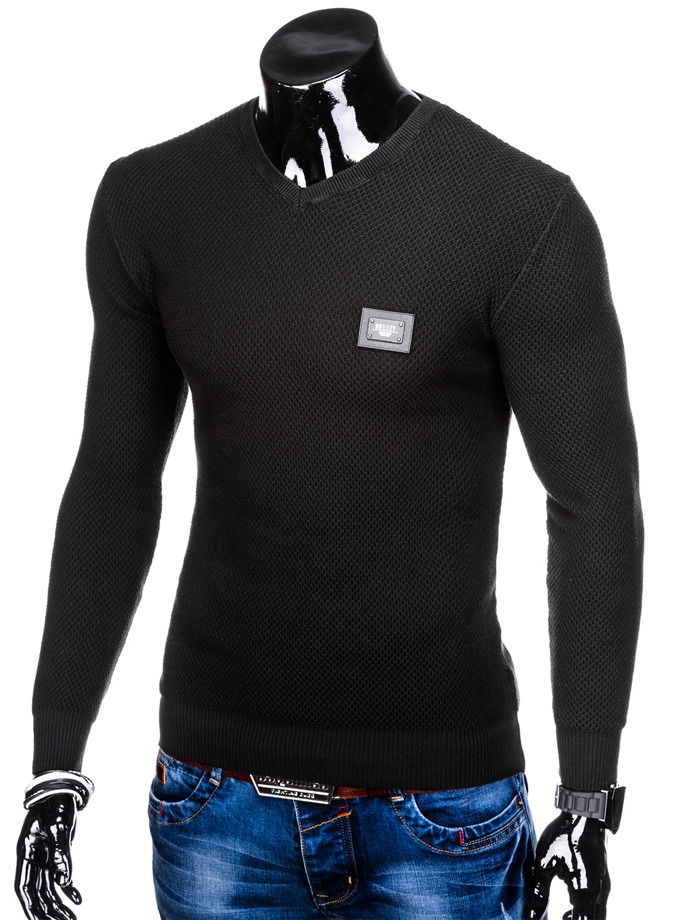 Men's sweater E147 - black