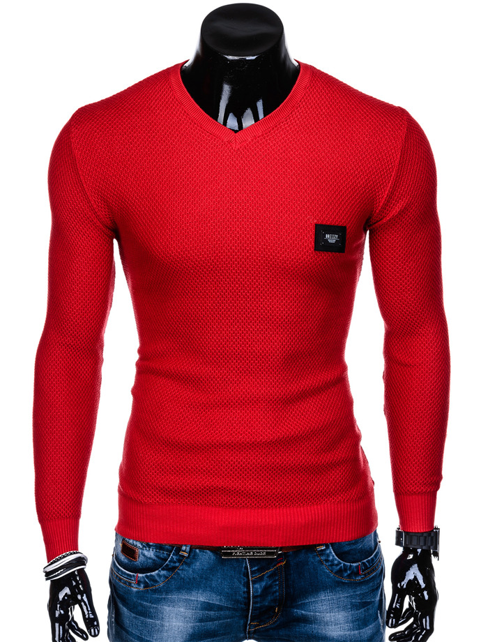 Men's sweater E147 - red