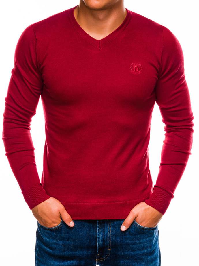 Men's sweater E74 - red