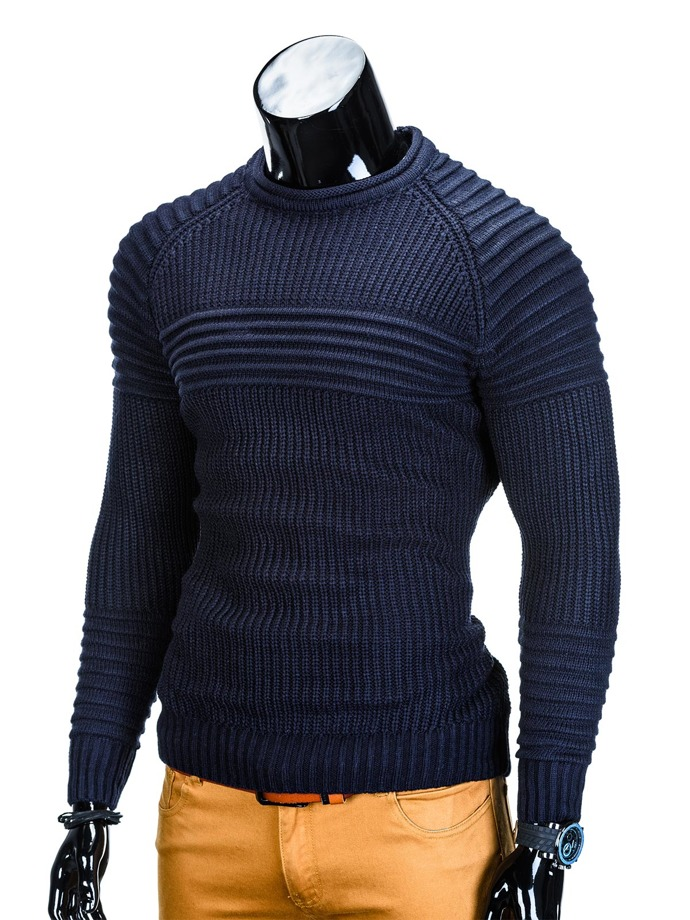 Men's sweater E96 - navy