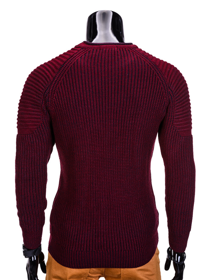 Men's sweater E98 - burgundy