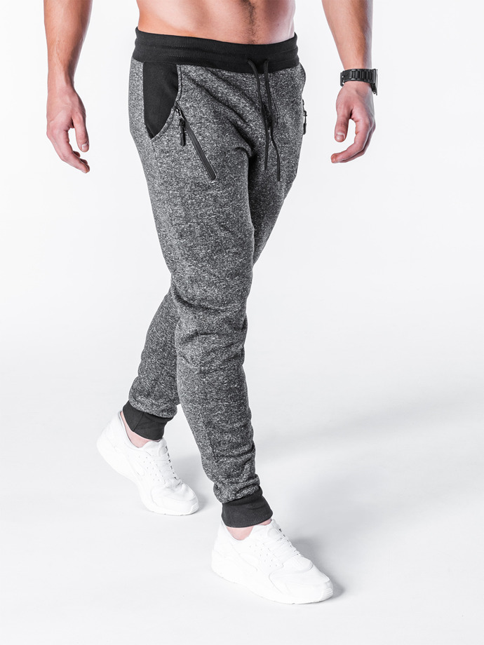 Men's sweatpants P611 - dark grey