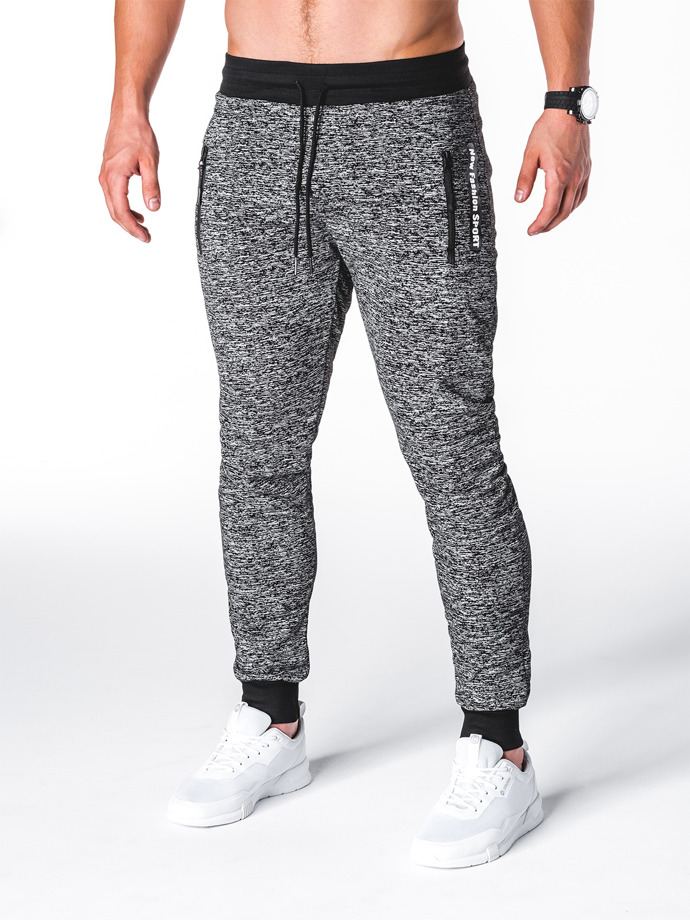 Men's sweatpants P688 - dark grey