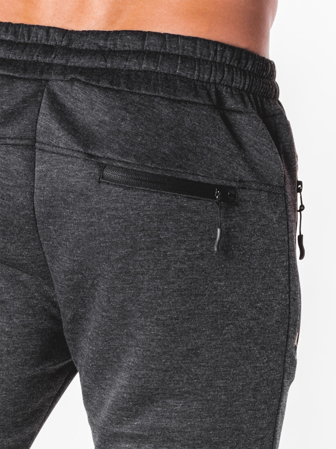 Men's sweatpants P692 - dark grey