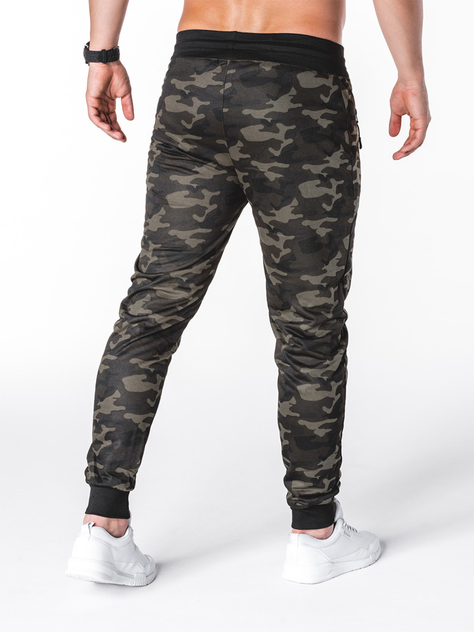 Men's sweatpants P697 - dark camo