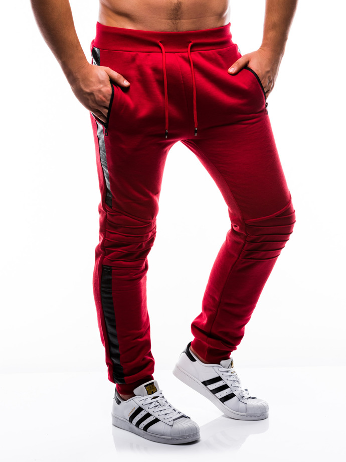 Men's sweatpants P803 - red